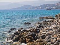 Vue de rivage vers la mer Image libre de droits