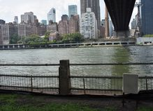 Vue de rive de Manhattan eastside images stock