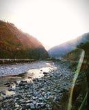 Vue de rivière de Beas image libre de droits