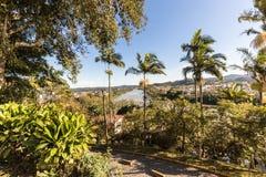Vue de rivière d'Itajai chez Gaspar, Santa Catarina Photos stock