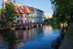 Vue de rivière de Bydgoszcz Photographie stock