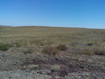 Vue de rivière de Kumachka de la plage sur la steppe Photo libre de droits