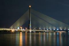 Vue de rivière de pont de paysage urbain Image stock