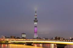 Vue de rivière de sumida de Tokyo, et Tokyo Skytree Photo stock