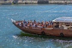 Vue de rivière Douro, avec la navigation récréationnelle de bateau, pour des visites touristiques image stock