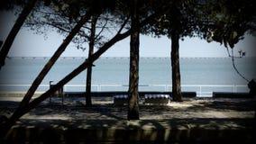Vue de rivière le Tage à Lisbonne Photo libre de droits