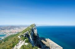 Vue de roche du Gibraltar Territoire d'outre-mer britannique du Gibraltar photo stock