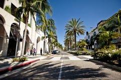 Vue de Rodeo Drive à Los Angeles Photos stock