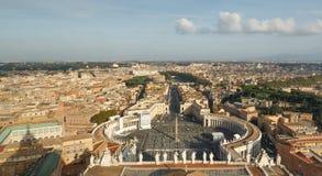 Vue de Rome de la basilique de St Peter en Italie Images stock