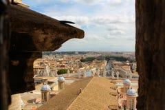 Vue de Rome de Vatican Photo libre de droits