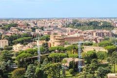 Vue de Rome de Vatican Images libres de droits