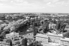 Vue de Rome de Vatican Image libre de droits