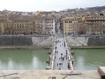 Vue de Rome de St Angelo de Castell photos libres de droits