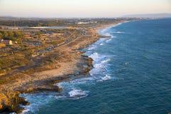 Vue de Rosh Hanikrah de la côte Photographie stock