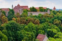 vue de rothenburg de l'Allemagne de ville Photographie stock libre de droits