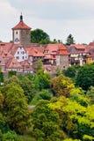 vue de rothenburg de l'Allemagne de ville Photo stock
