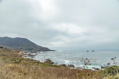 Vue de route de Côte Pacifique Photographie stock