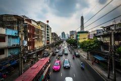 Vue de route de Ratchaprarop, à Bangkok, la Thaïlande Photographie stock libre de droits