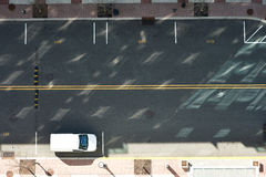 Vue de route de rue d'en haut Photographie stock