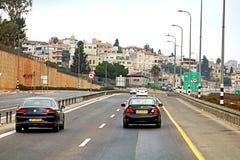 Vue de route en Israël Photo stock