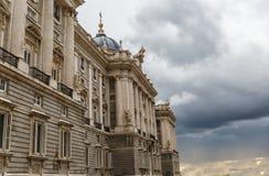 Vue de Royal Palace de Madrid Photo libre de droits