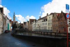 Vue de rue à Bruges Photos libres de droits