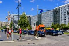 Vue de rue d'Alexanderstrasse à Berlin image libre de droits