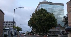 Vue de rue dans Everett, Washington 4K banque de vidéos