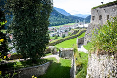 Vue de rue dans la forteresse Photographie stock libre de droits