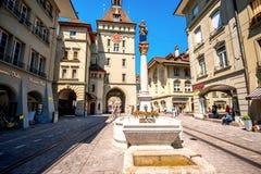 Vue de rue dans la ville de Berne Photographie stock libre de droits
