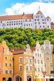 Vue de rue dans la ville de Landshut photos stock
