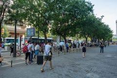 Vue de rue dans XI le `, Chine photos stock