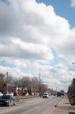 Vue de rue de Berceni images stock