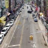 Vue de rue de Chinatown dans NYC Photographie stock libre de droits