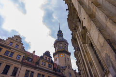 Vue de rue de Dresde Photo stock