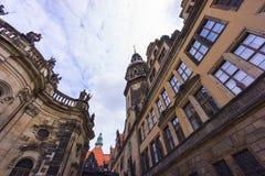 Vue de rue de Dresde Images stock