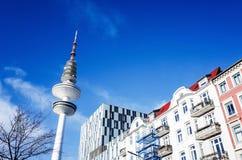Vue de rue de Hambourg du centre, Allemagne Photo libre de droits