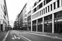 Vue de rue de Hambourg du centre, Allemagne Images stock
