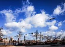 Vue de rue de Hambourg du centre, Allemagne Image libre de droits