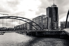 Vue de rue de Hambourg du centre, Allemagne Photographie stock