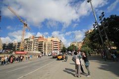 Vue de rue de l'Espagne Barcelone Photographie stock