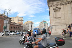 Vue de rue de l'Italie Rome Photos stock