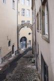 Vue de rue de la ville du Luxembourg Photographie stock