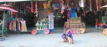 Vue de rue de lac Inle dans Myanmar Photos libres de droits