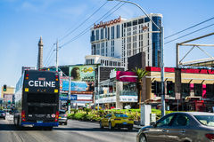 Vue de rue de Las Vegas Boulevard Image stock