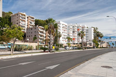 Vue de rue de Malaga Photographie stock libre de droits