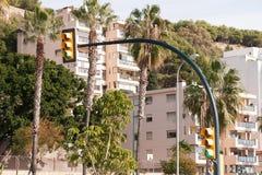 Vue de rue de Malaga Images libres de droits