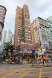 Vue de rue de Mong Kok en Hong Kong Photo stock