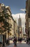 Vue de rue de New York City image stock
