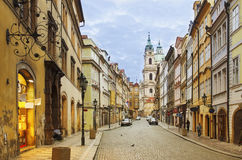 Vue de rue de Prague Images stock